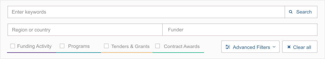 Funding search